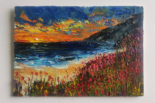Original Painting 'Poppies On The Coast'