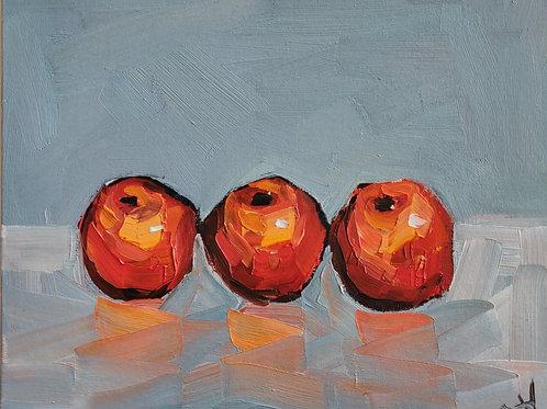 Original Painting 'Three Little Oranges'