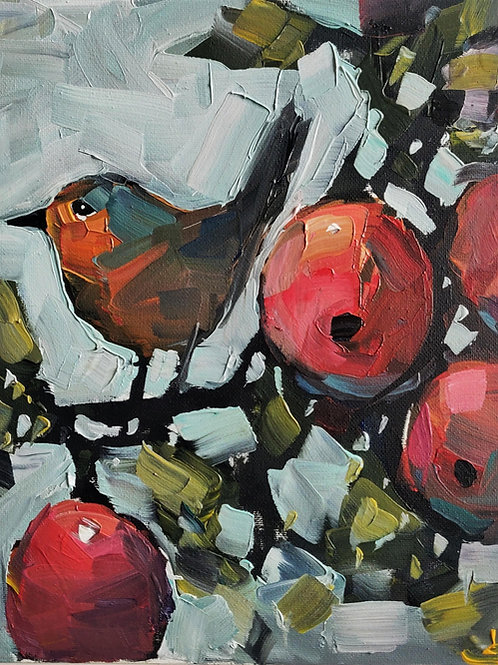 Original Painting 'Robin In The Apple Tree'
