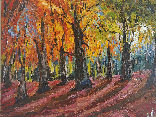 Original Painting 'Autumn Forest'