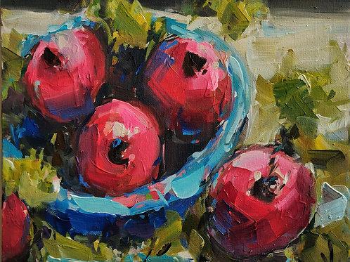 Original Painting 'Pomegranate Bowl'