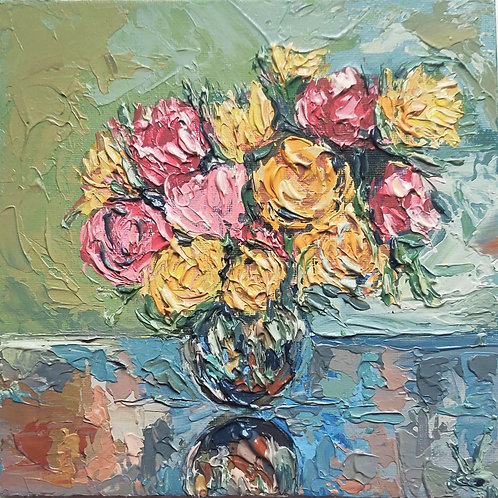 Original Painting 'Holiday Roses'