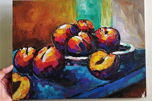 Original Painting 'Saturated Peaches'