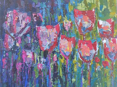 Original Painting 'Cold Flowers'