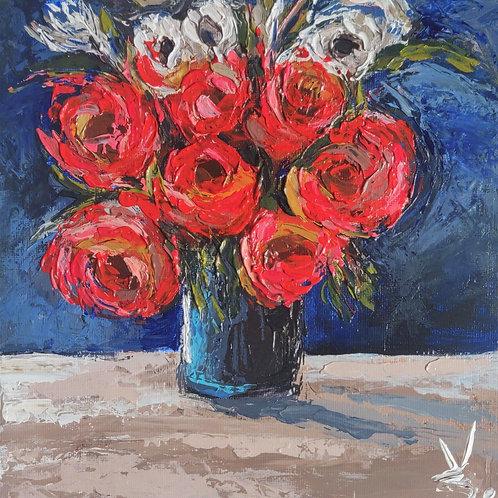 Original Painting 'Happy Roses'