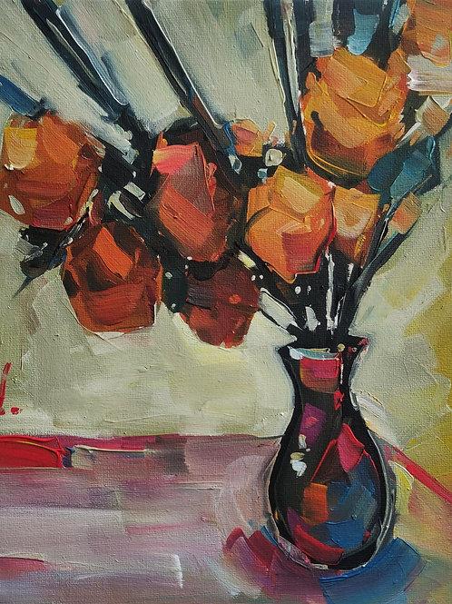 Original Painting 'Orange Bloom'