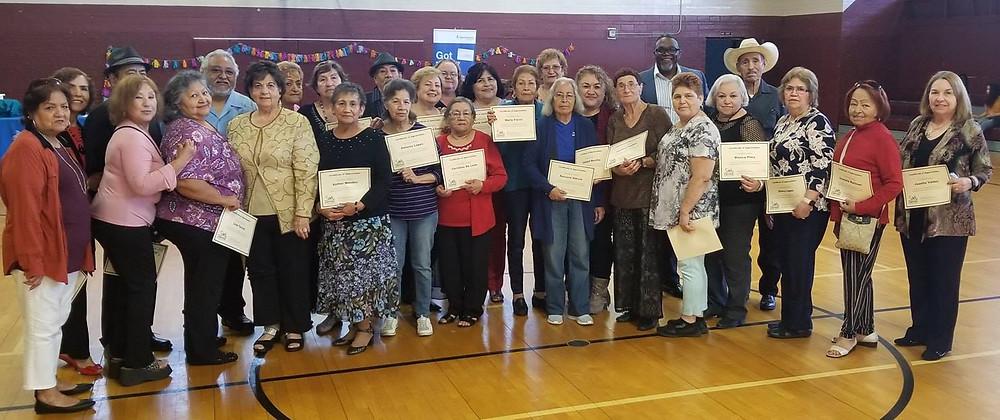 Celebrating volunteers from Fort Worth's Northside Senior Center.