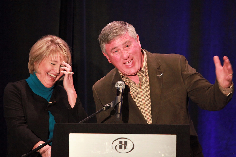 Sixty and Better Legends Gala emcees Kelli and Bob Phillips of TV's Texas Country Reporter