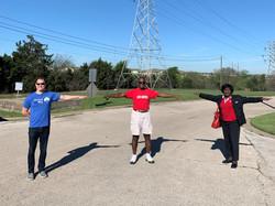 Practicing a safe distance during Volunt