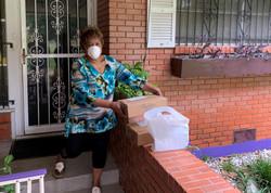 Receiving delivered meals