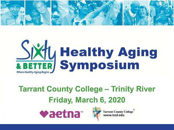 2020 Healthy Aging Symposium