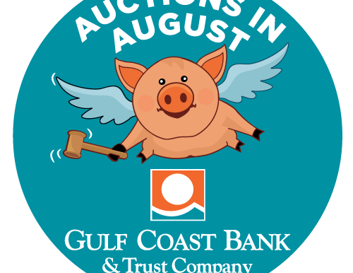 GULF COAST BANK AUCTIONS IN AUGUST