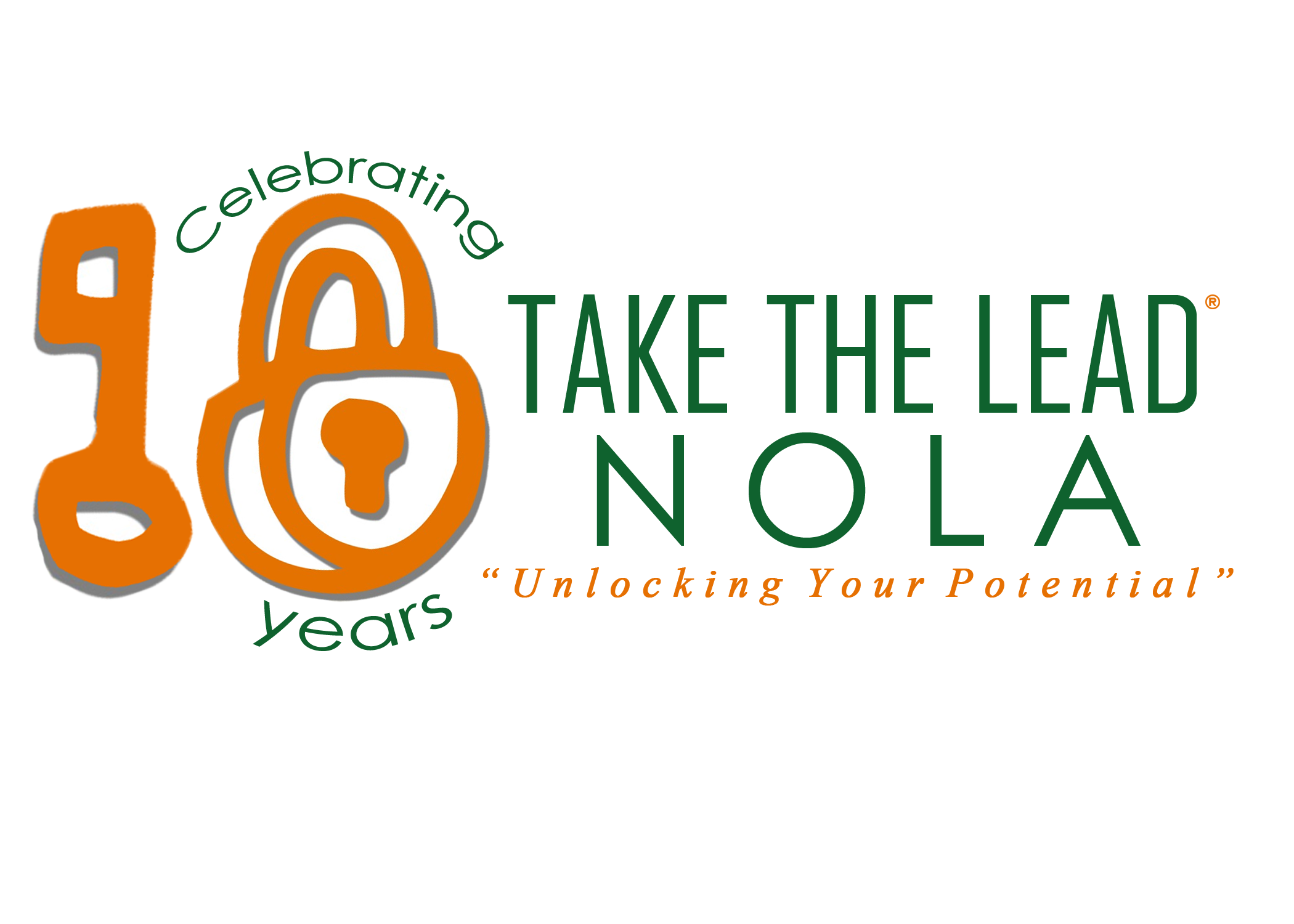 Take The Lead Nola 10 Year Logo Mock Up.