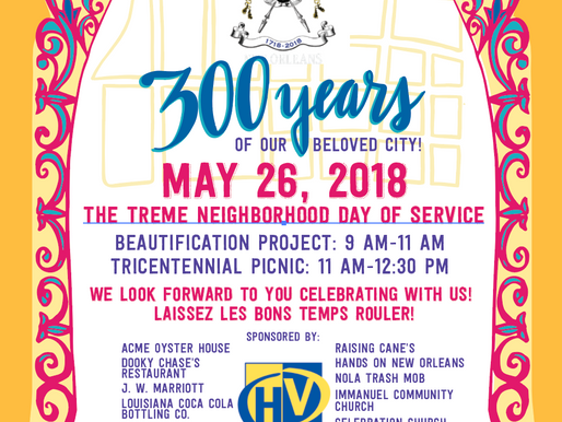 Tricentennial Day of Service Saturday May 26