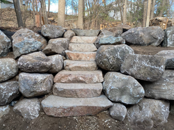 Boulder Wall With Steps