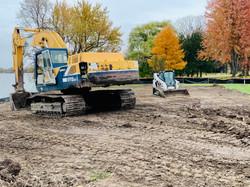 Excavator on Lake