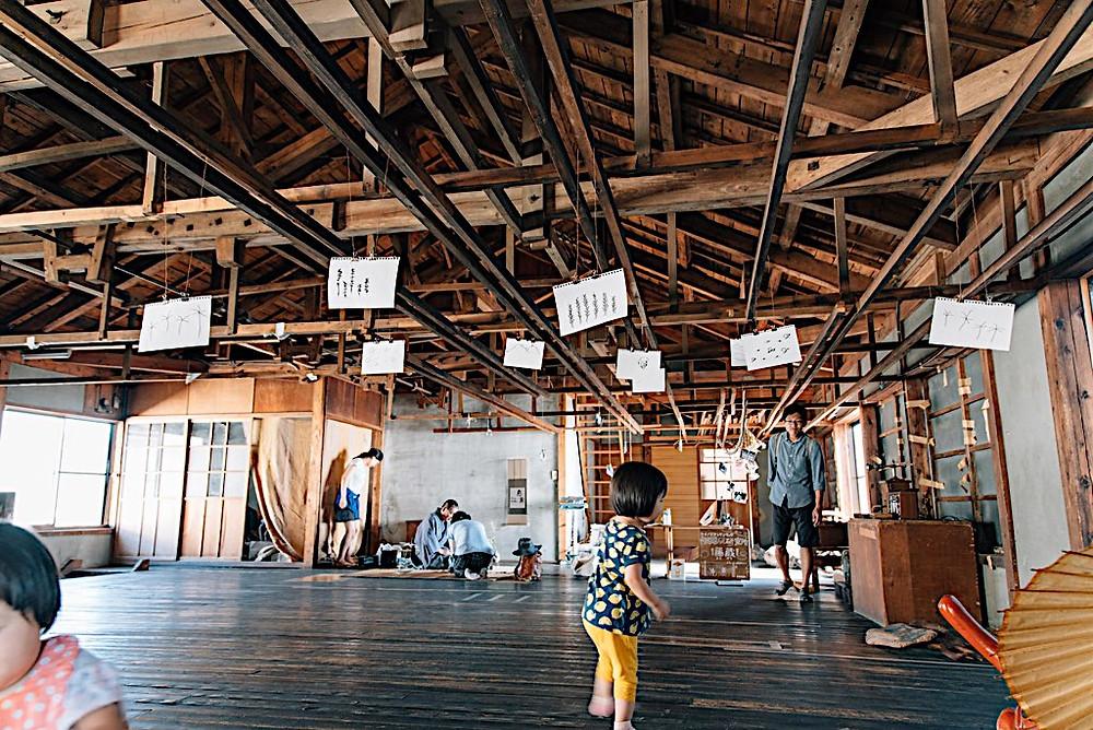 新潟県内野で行われるイベントの様子、コメタクの日にクリ