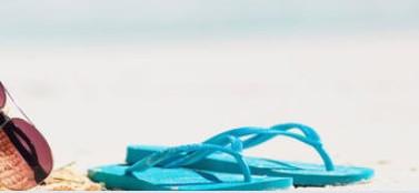 aquamarine flip flops