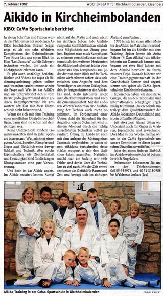 Aikido in Kirchheimbolanden