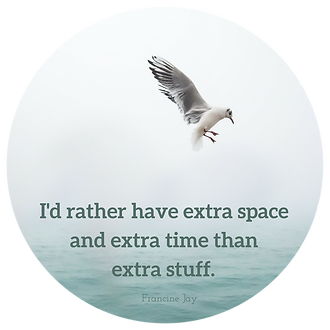 I'd rathe have extra space and extra time than extra stuff.