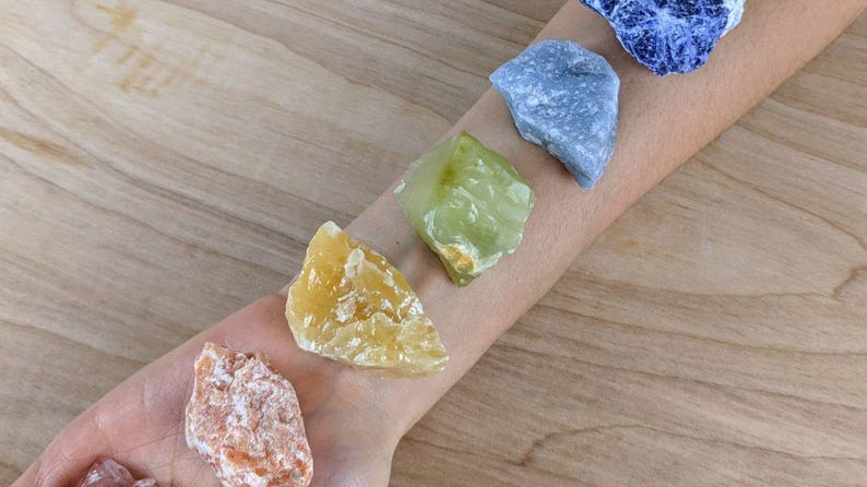 7pc Rough Charka Stones