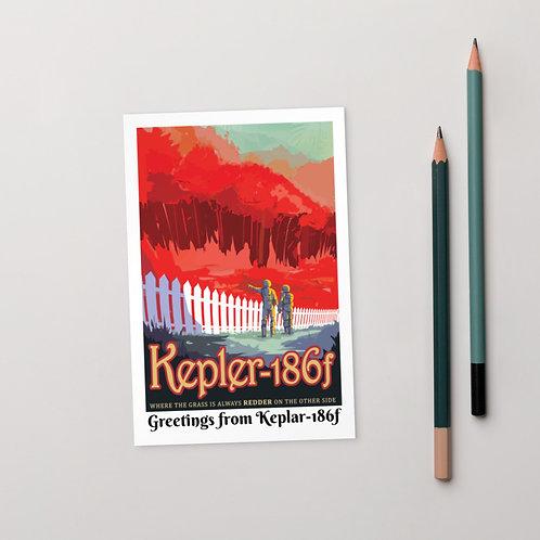 "NASA X ""Greetings from Keplar-186f"" EXO Planetary Postcard"