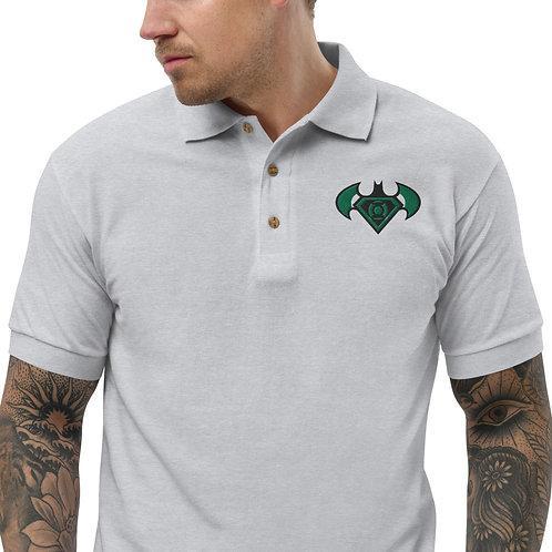 """O.G. STEAMPUNK """"Bat Signal"""" Embroidered Premium Polo Shirt"""