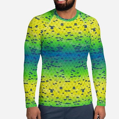 "TREKK X ® Offshore ""Mahi"" Fishing Surfing Diving Men's Rash Guard Shirt"