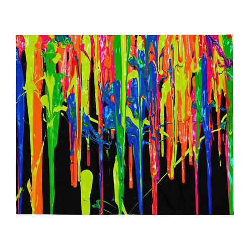 "Premium Throw Blanket ""Dripping Wet Paint"" Collection"