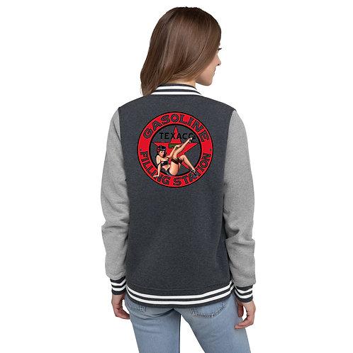 "O.G. STEAMPUNK ""Texaco Filling Station"" Women's Letterman Jacket"