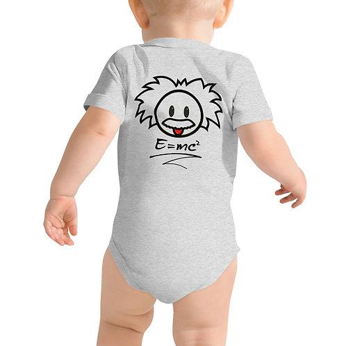 """O.G. STEAMPUNK """"Happy Baby Einstein"""" Front & Back Print One Piece T-Shirt"""