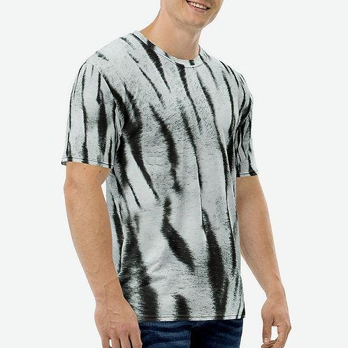 "TREKK X ""Yeti"" Real Life ® Winter Snow Tiger Camo Men's T-shirt"