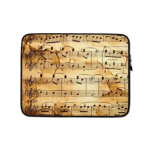"TREKK X ""Harmony"" Musicians Antique Music Sheet Premium Laptop Sleeve"