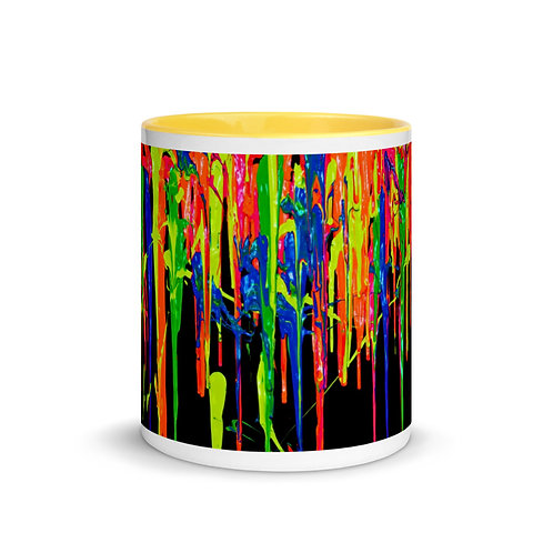"CAFE X Premium Mug ""Dripping Wet Paint"" Collection with Color Inside"