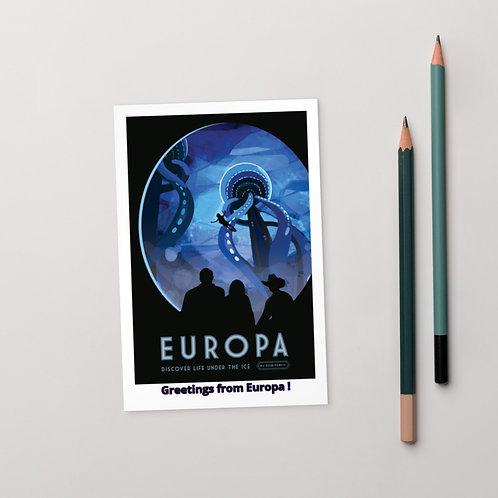 "NASA X Europa ""Greetings from Europa!"" EXO Planetary Postcard"