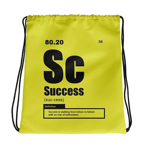 "ZENX ""Periodic Success"" Neon Yellow Drawstring Bag"