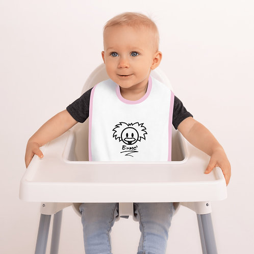 """Happy Baby Einstein"" Embroidered Baby Bib"