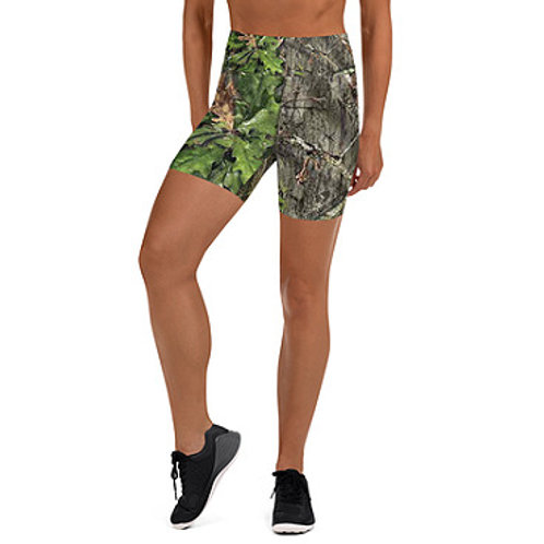 Ladies Mossy Oak ® Obsession Camo Clothing Yoga Shorts with Pocket