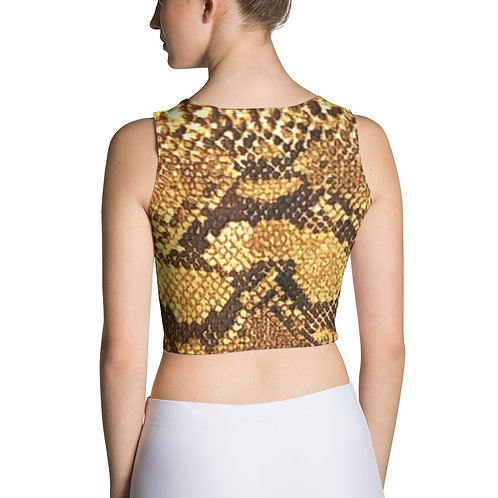 "TREKK X ""Yuma Cowgirl"" Snake Skin Look Women's Ladies Crop Top Shirt"