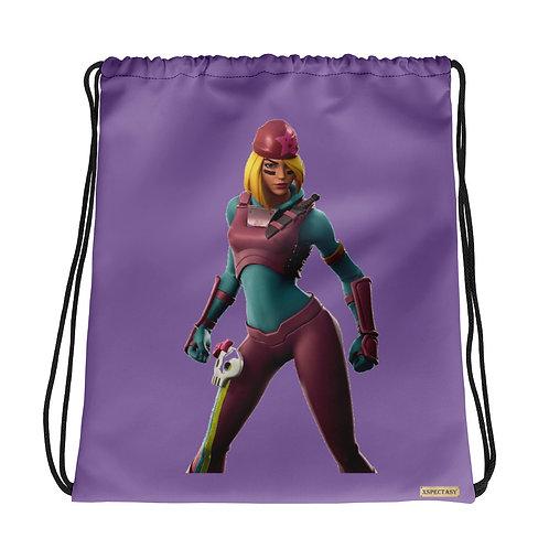 """GAMER X Fortnite """"Skully"""" Character Epic Games ® Shoulder Drawstring Bag"""