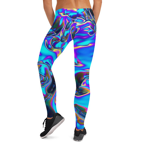 """Women's Leggings """"Holographic Blue Flame"""" Collection"""