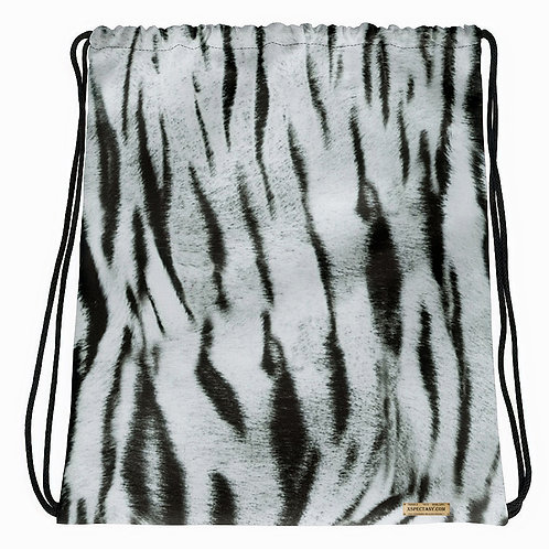 "TREKK X ""Yeti"" Real Life ® Winter Camo Snow Tiger Camouflage Drawstring Bag"