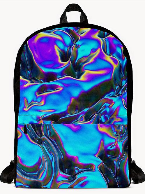 "TREKK X ""Blue Flame Holographic"" Quality Backpack"