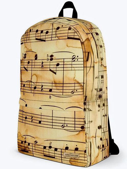 "TREKK X ""Harmony"" Musicians Antique Music Sheet Classic Backpack"