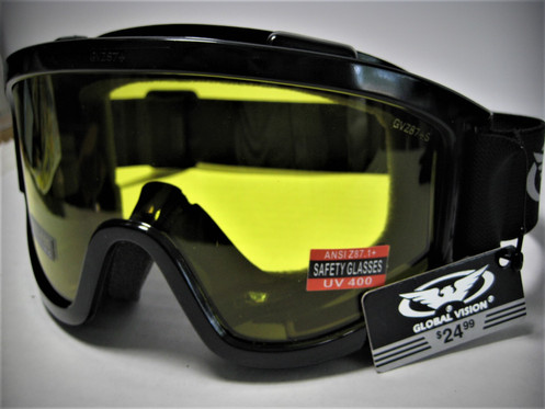 0b7d849aaee0 Global Vision ® Z87+ Safety Goggles Anti-Glare Anti-Fog All Weather Wind  Shield