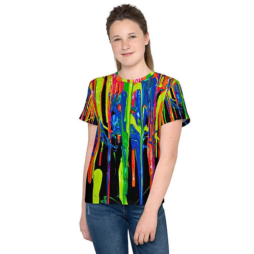"""Youth T-Shirt """"Dripping Wet Paint"""" Collection"""