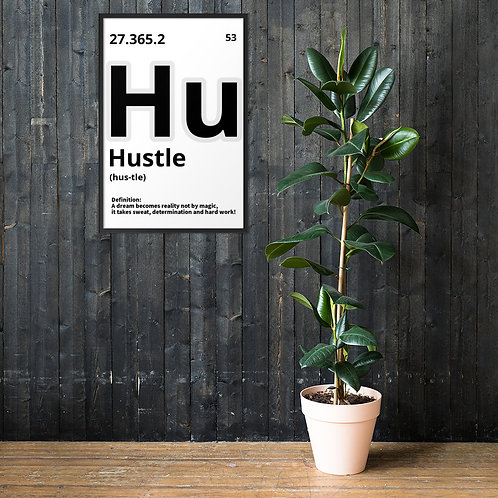 "ZENX ""Periodic Hustle"" Framed Enhanced Premium Museum Quality Poster 61x91 cm"