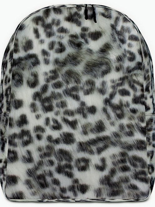 "TREKK X ""Panthera"" Real Life ® Winter Snow Leopard Camo Minimalist Backpack"