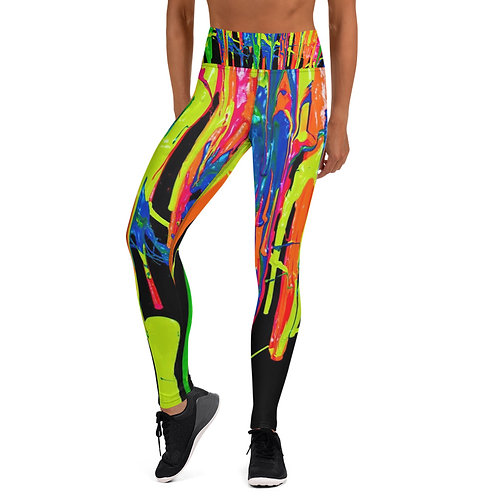 """Yoga Leggings """"Dripping Wet Paint"""" Collection"""