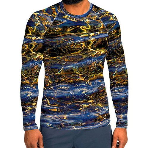 "TREKK X ® Back Water ""Fly Master"" Bass Fishing Water Sports Rash Guard Shirt"